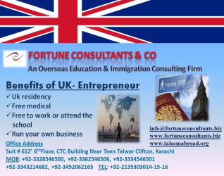 FORTUNE CONSULTANTS & CO               Benefits of UK-Entrepreneur